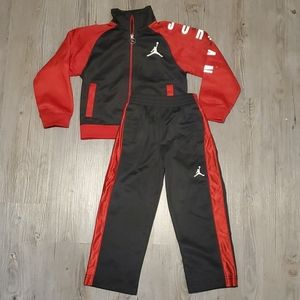 Jordan   Toddler Jump Man Track Suit   Black&Red